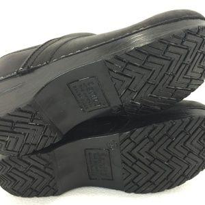 Sanita Shoes - Sanita Womens 36 EU 5 - 5.5 US Black Leather Clogs